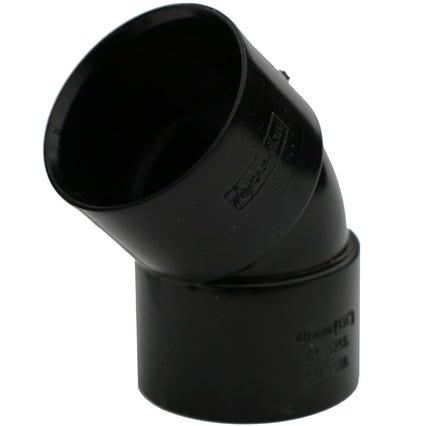 Black Solvent Weld 45 Degree Bend