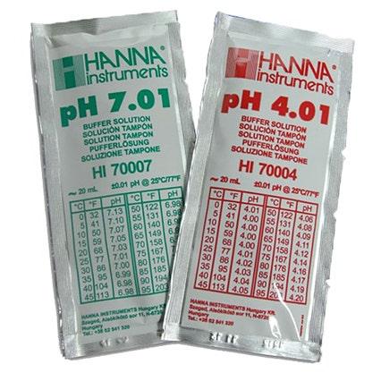 HI-77400P pH Combination Buffer Solution Kit 4.01 & 7.01 5 x 5 20ml sachets
